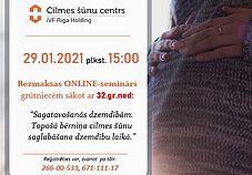 29.01. plkst.15:00 bezmaksas ONLINE seminārs par sagatavošanos dzemdībām