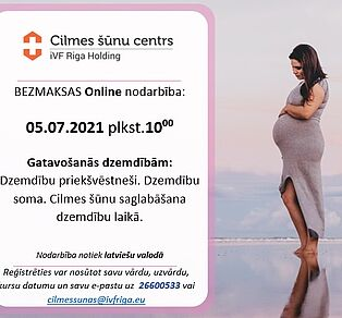 Bezmaksas kursi topošajiem vecākiem 05.07., plkst.10:00