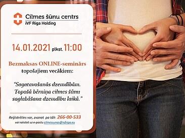 14.01. plkst.11 bezmaksas ONLINE seminārs par sagatavošanos dzemdībām