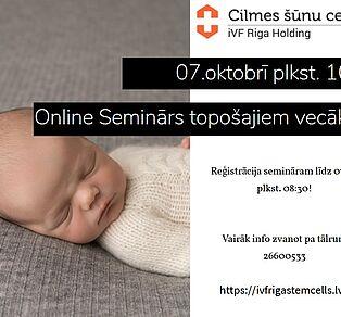 Bezmaksas Online-seminārs par cilmes šūnām