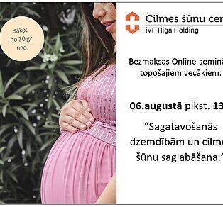 Online seminārs par nabassaites cilmes šūnu saglabāšanu dzemdību laikā 06.08. plkst.13:00